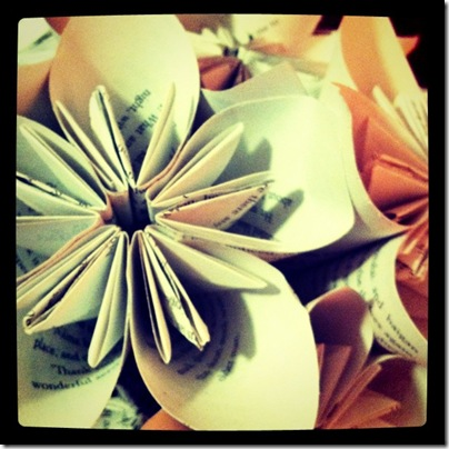 Book Page Wedding Bouquet
