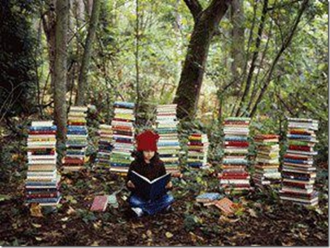 BITW Girl Reading in Woods