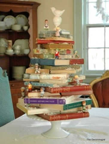 BITW Holiday Table Top Book Tree