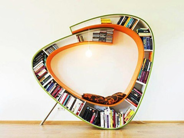 BITW Amazing reading spot and bookcase