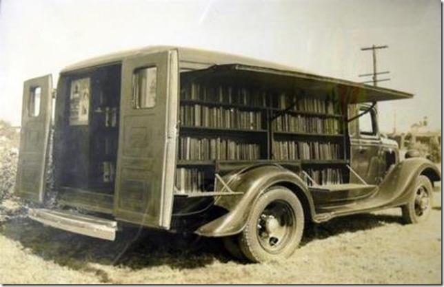 BITW Bookmobile in a truck