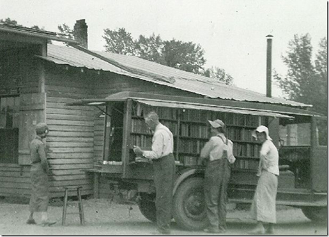 BITW Old Time Bookmobile in a Truck