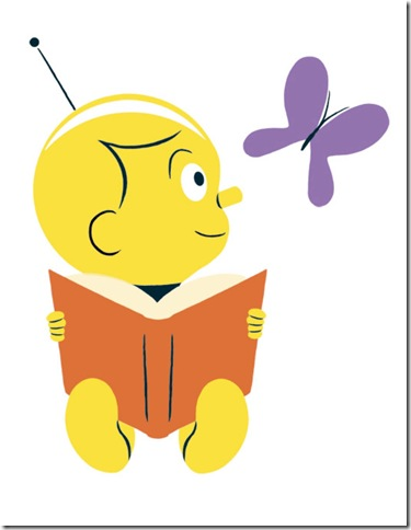 RAoR Doug-Unplugged-Poses-Reading-Book-and-Looking-at-Butterfly