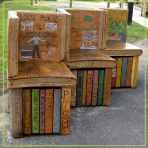 BITW Amazing Book Benches via Cromwell Belden Public Library