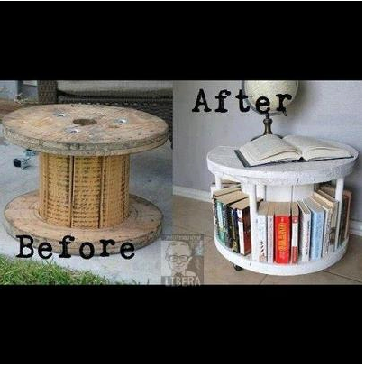 And if you're looking for a bookish project, here's a clever way to recycle that giant spool!