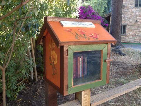 A little free library--don't you wish there were more of these?