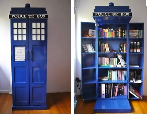 A Police Call Box for your next book emergency.