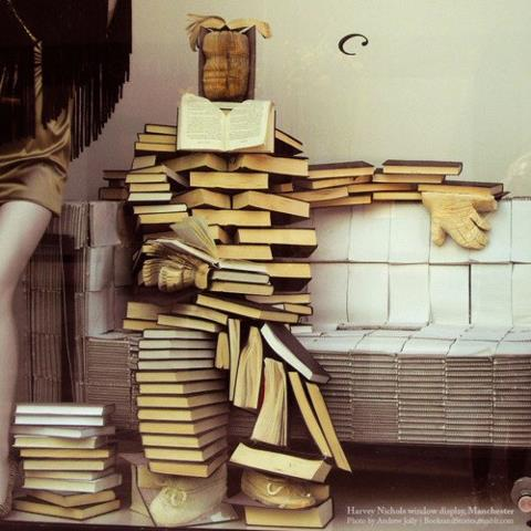 BOOKMAN! He's a man made out of books, a superhero for readers everywhere.