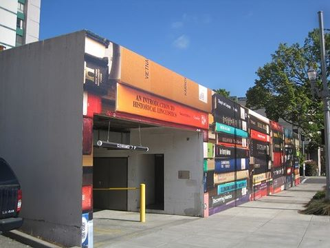 A building with a book facade--genius!