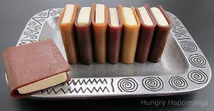 Reading time can be snacking time--how about enjoying these tiny books made of chocolate?